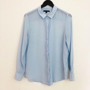 Banana Republic Sheer Blue Button Down Shirt